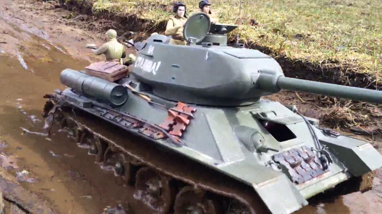 1/16 rc T-34/85 & BA-64 - YouTube