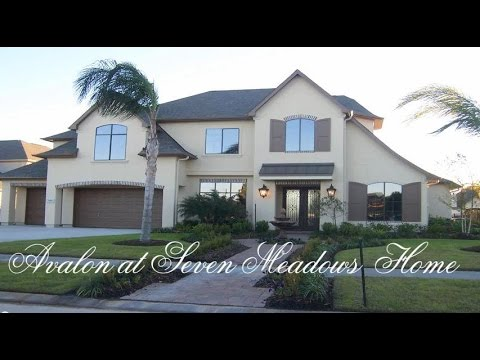 Houston Real Estate Videos-Sample House in The Estates of Avalon at Seven Meadows, Katy, TX 77494