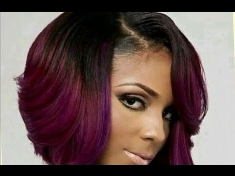 Cute Short Bob Haircuts For Black Women - YouTube