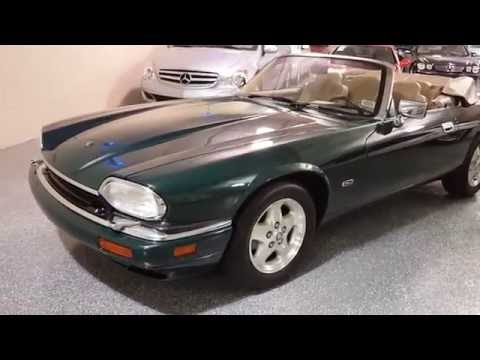 1995 British Racing Green /Tan Leather Jaguar XJS (SAJNX2740SC) with an 4.0L L6 DOHC 24V engine, 4-Speed Automatic Overdrive transmission, located at 603 Amelia Street, Plymouth, MI, 48170, (734) 459-5520, 42.378841, -83.464546 - Photo #0