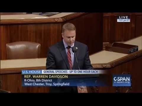 Rep. Warren Davidson 2nd Amendment Speech on House Floor