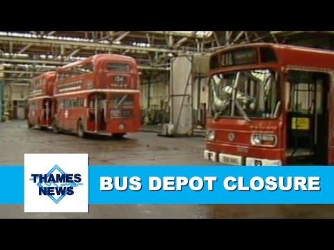 London Bus Depot Closure   Thames News