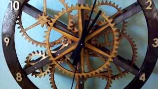 Wooden Gear Clock - Starchar