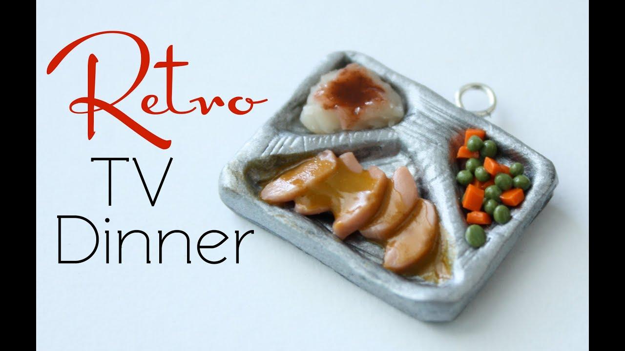 Retro Tv Dinner Clay Miniature Food Tutorial Youtube