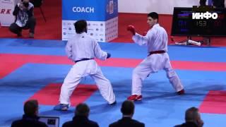 Rafael Aghayev vs. Turkish karateka European Karate Championship 2015, Istanbul HD 720