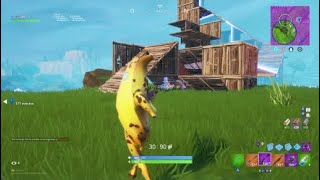 "Fortnite*solitary victory #10 Banana Skin New gesture ""Tamborin Commander"""