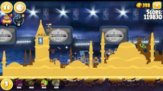 Angry Birds Seasons Ham Dunk All levels