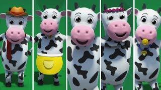 vaca da família dedo | rima familiar dedo | Rima de crianças | Cow Finger Family | Song For Kids
