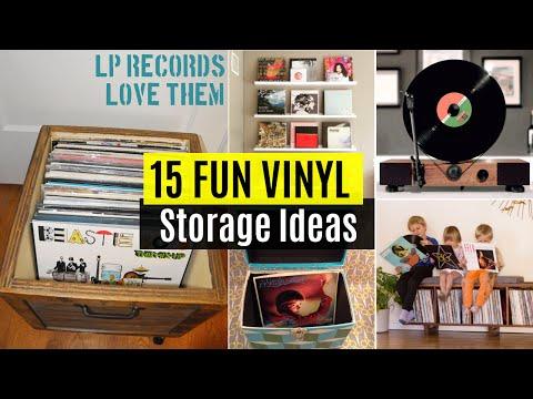 15 Fun Vinyl record storage ideas