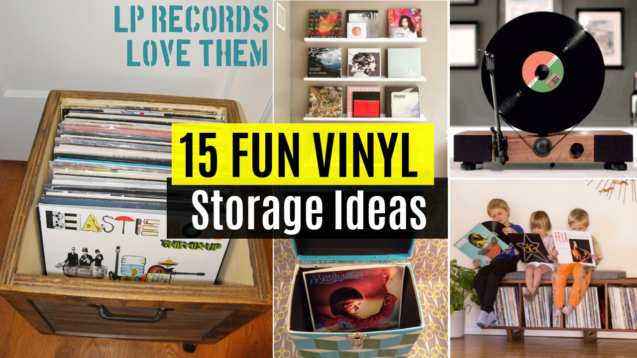 15 Fun Vinyl record storage ideas - YouTube
