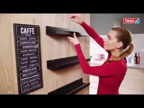 Monter Des Etageres De Cuisine Sans Percer Avec Tesa Youtube