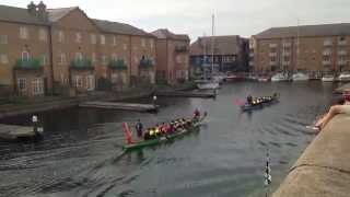 Dragon Boat Race 2014 - The Sinkables Vs Rnli At Brighton Marina!