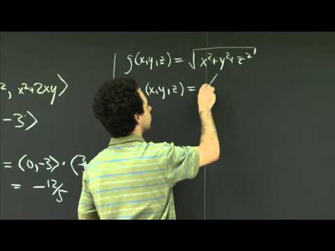Gradient and directional derivative | MIT 18.02SC Multivaria