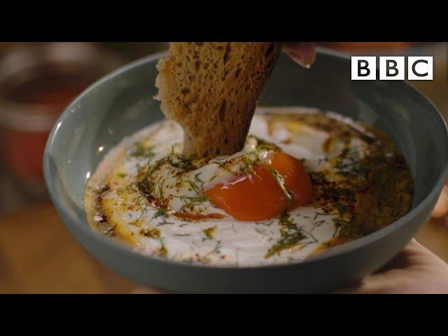 Nigella's dreamy Turkish Poached Eggs - BBC