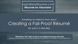How to Make a Fail-Proof Resume in 4 1/2 Minutes