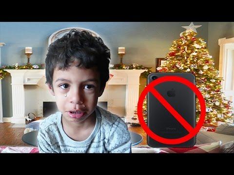 CHRISTMAS PRESENT PRANK- IPHONE 7 & IPAD PRANK- CHRISTMAS EDITION