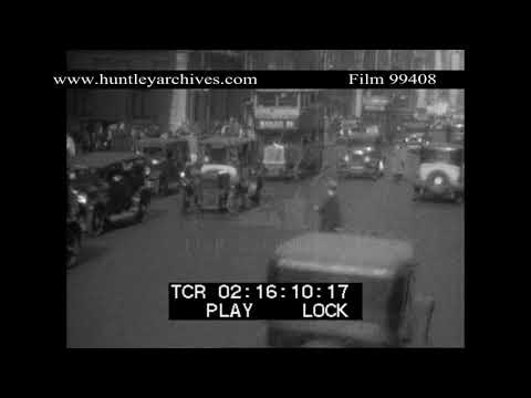 Double decker buses in New York.  Archive film 99408