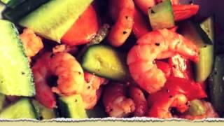 Теплый салат с креветками или ланч по-тайски