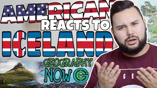 American REACTS // Geography Now! Iceland