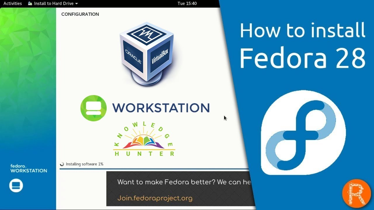 How to Install Fedora 28 Workstation Linux on VirtualBox in Windows 8 /  Windows 10
