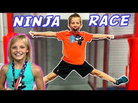 Paxton's Ninja Race With Payton!