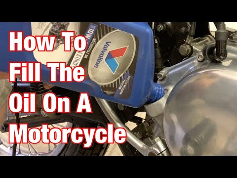 How To Fill & Check Oil On A Motorcycle: Part 183 from YouTube · Duration:  5 minutes 51 seconds