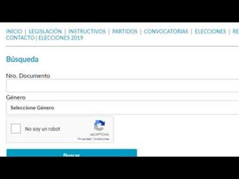 Elecciones 2013: ¿Dónde voto? Consultar padrón electoral [Argentina]из YouTube · Длительность: 12 с