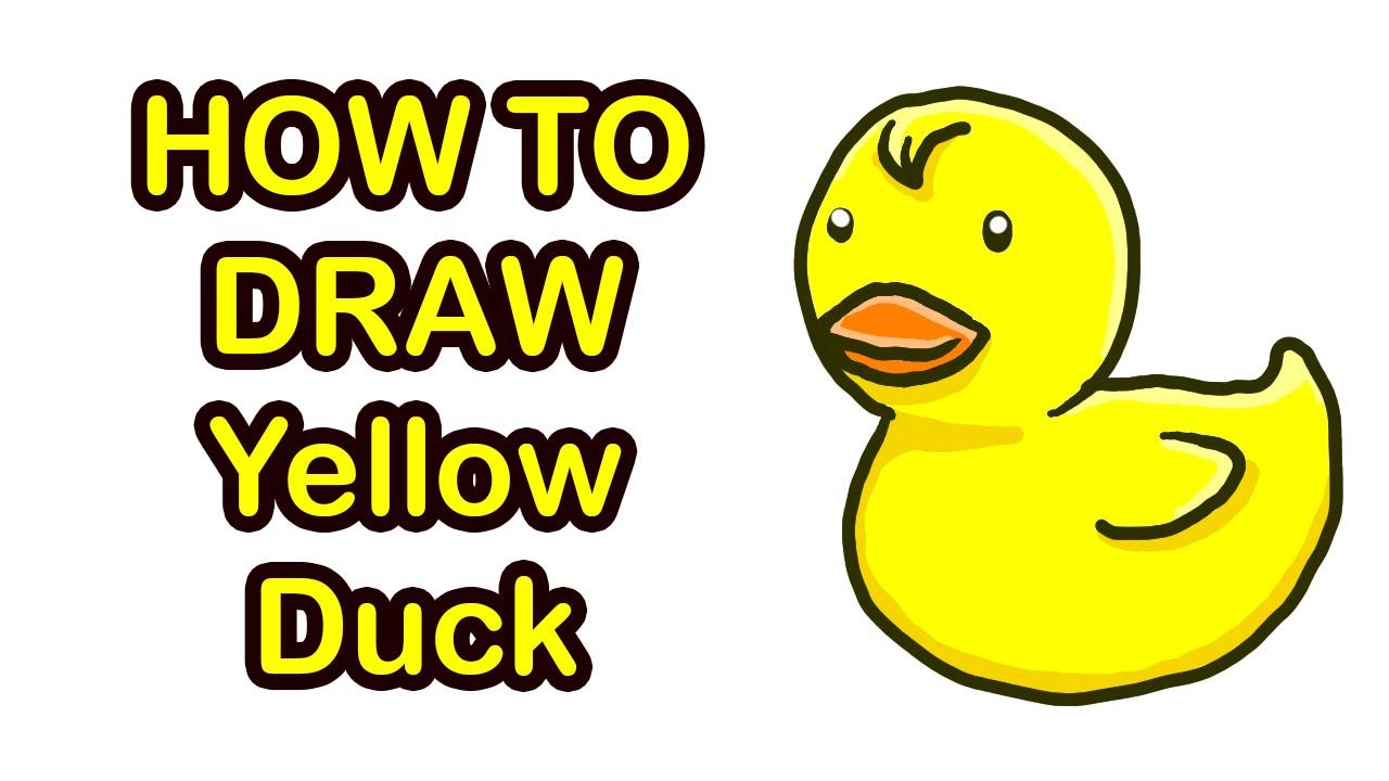 วาดรูประบายสีการ์ตูนเป็ด ง่ายๆ Youtube
