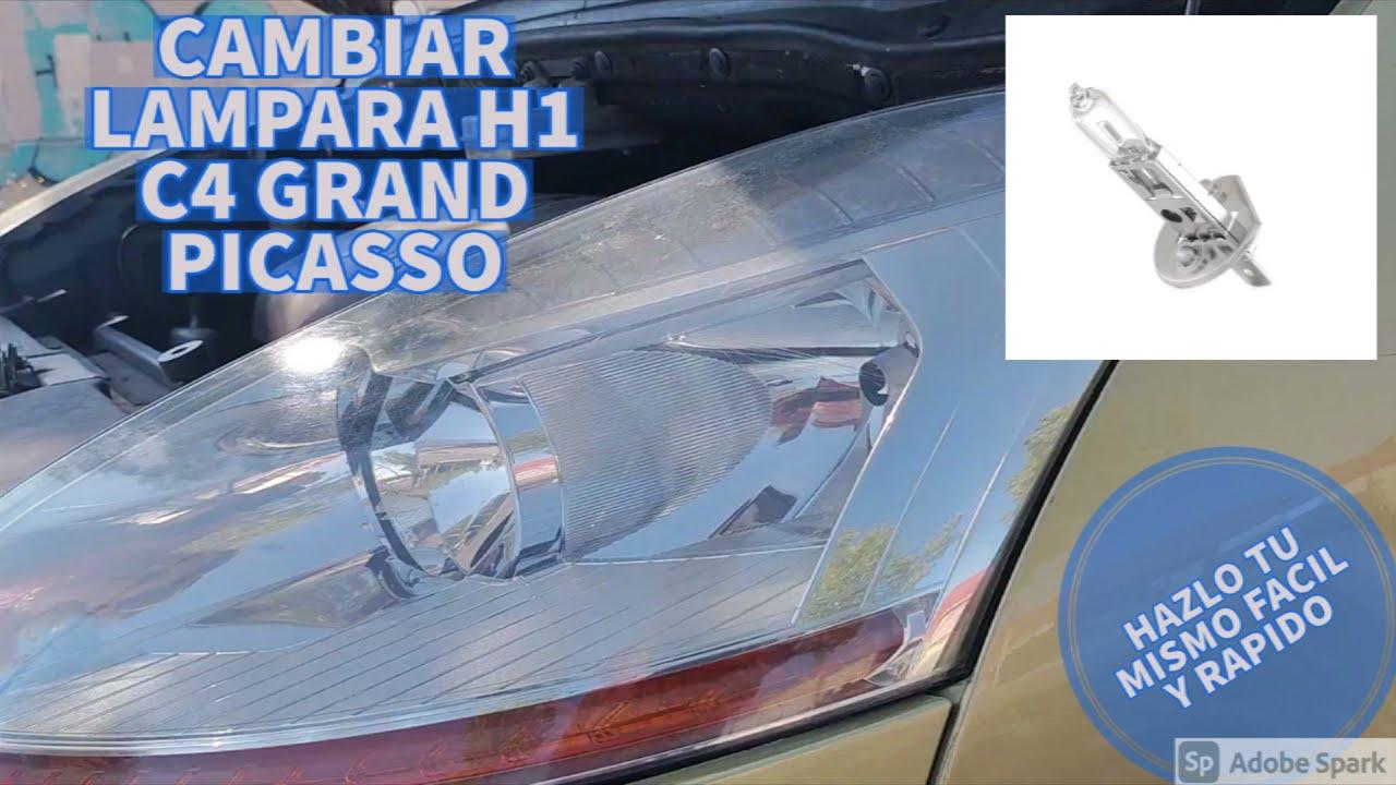 SUSTITUIR H1 O LAMPARA DE LARGO ALCANCE C4 GRAND PICASSO CITROEN
