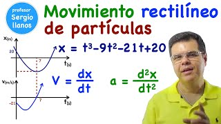 Movimiento rectilíneo de partículas. Problema 1. Curso de Dinámica - Clase 1