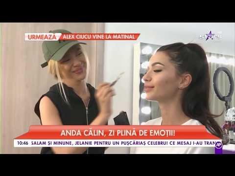 """Anda Călin, dis de dimineață la coafor: """"Machiajul trebuie să fie frumos"""""""