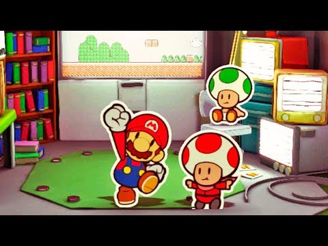 Paper Mario Color Splash #44: Jogo Clássico na Green Energy Plant - Wii U Gameplay