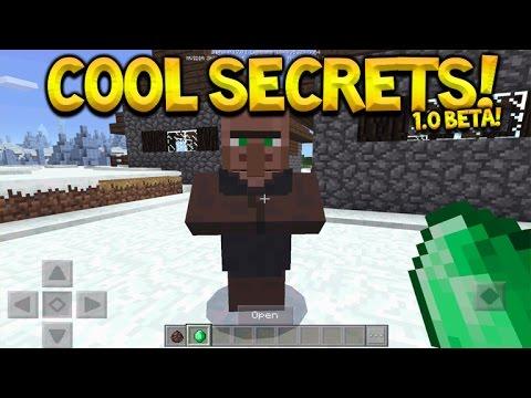 1.0 BETA SECRETS!! Minecraft Pocket Edition - 1.0 Beta Hidden Secrets & Features (Pocket Edition)