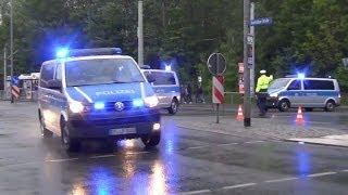 """Polizei Großeinsatz FC Carl Zeiss Jena vs FC Rot Weiß Erfurt """"Thüringenderby"""""""