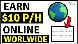 Earn $10 PayPal Money Per Hour Working Online Worldwide [Make Money Online]