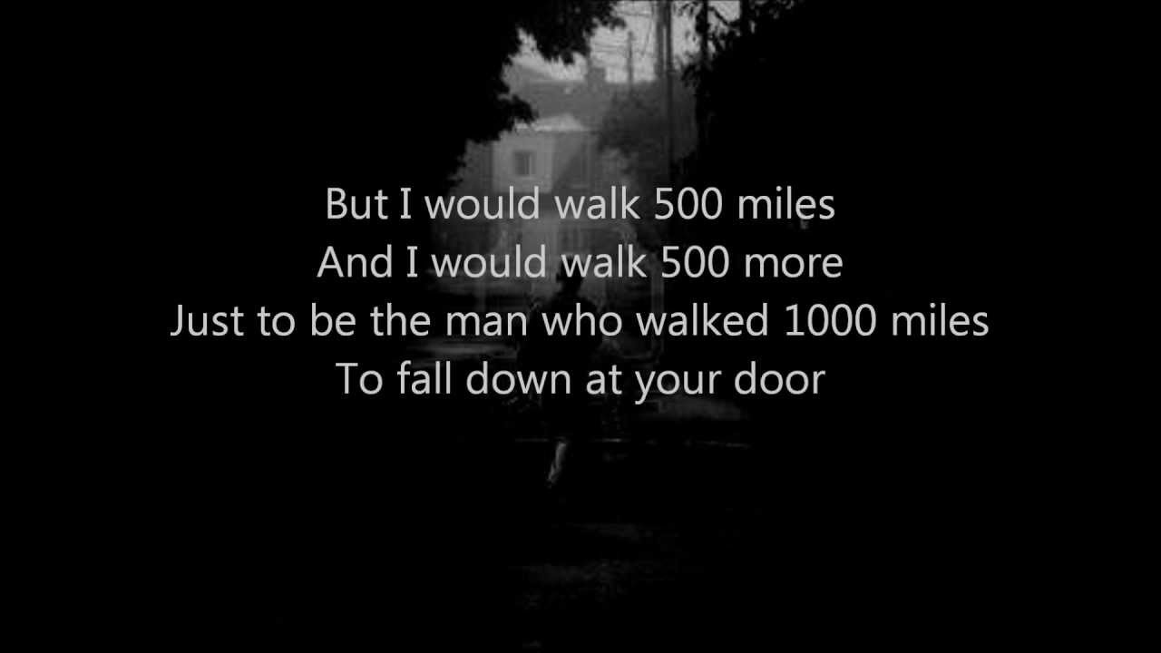 The Proclaimers - I'm Gonna Be (500 Miles) - YouTube