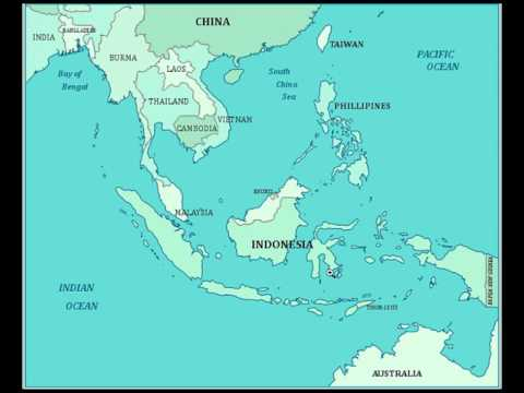 Map Of Monsoon Asia Countries.Memorize The Southeast Asia Countries In Three Minutes With This
