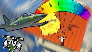 GTA V - AVIONES VS RPG !!! LA TÉCNICA DEL PARACAÍDAS | MrWikky92