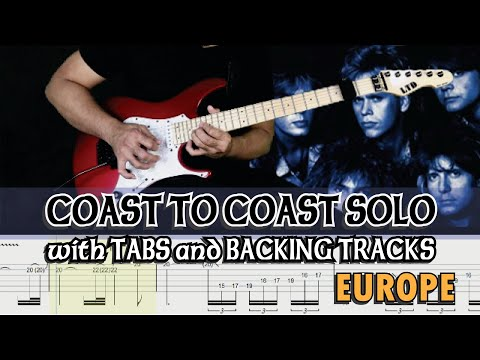 EUROPE COAST TO COAST GUITAR SOLO with GP7 TABS and BACKING TRACK by ALVIN DE LEON 2020