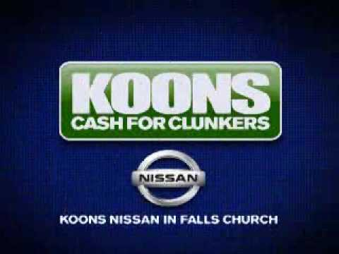 Koons Falls Church Nissan New Car Cash For Clunkers TV Commercial