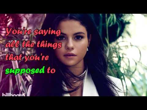 Selena Gomez - Sober/Lyrics