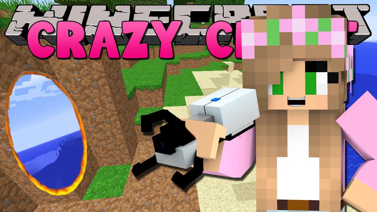 Minecraft crazy craft 3 0 little kelly portal gun fun for Crazy craft 3 0 server