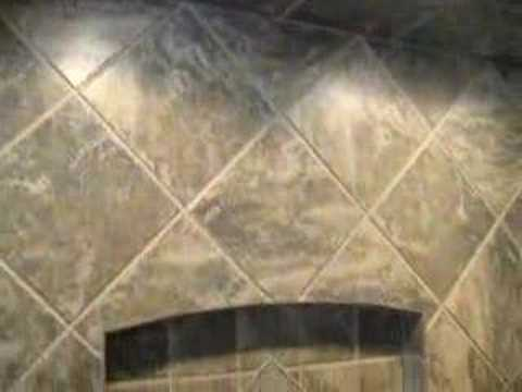 Tile Diagonal Showerstall Youtube