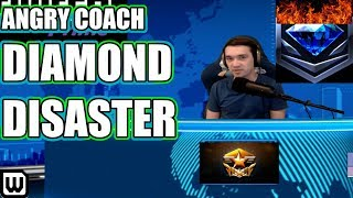 Angry DIAMOND LEAGUE DISASTERS Coach - THERE'S A RED DOT (Diamond Zerg)