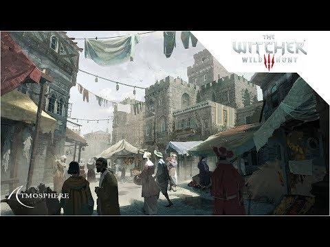 Medieval City Market Square Ambience - Bustling Market