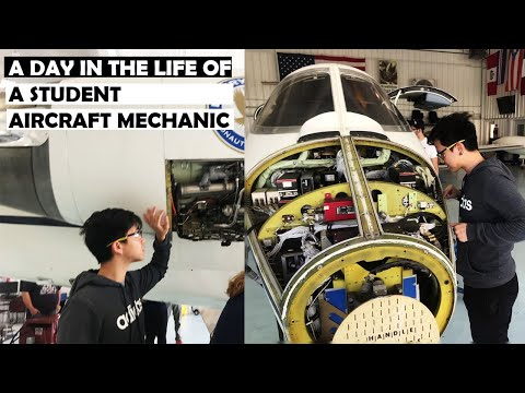 A Day In The Life Of A Student Aircraft Mechanic | Embry Riddle, Daytona Beach