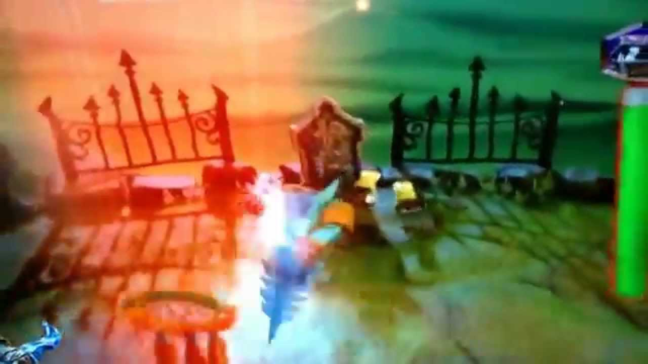skylanders trap team trapping chomp chest and fist bumps