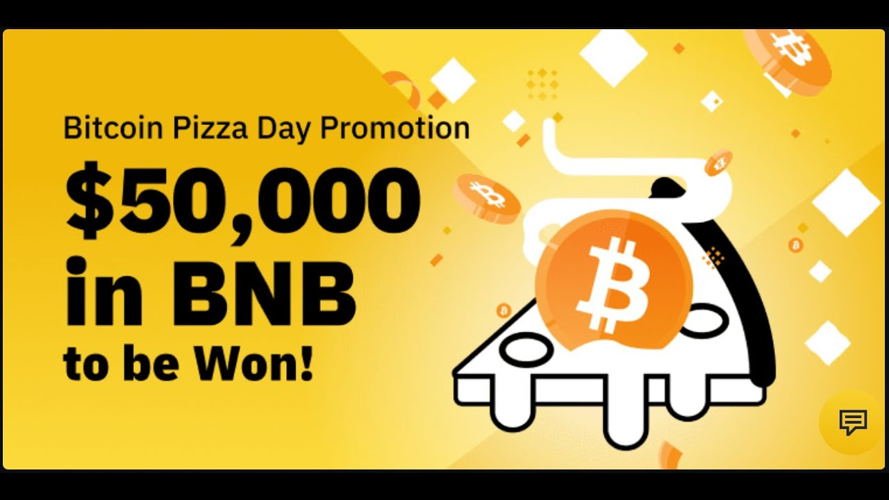 Binance Bitcoin Pizza Day Promotion | BNB Giveaway | Participate And Win 50000 USD 20