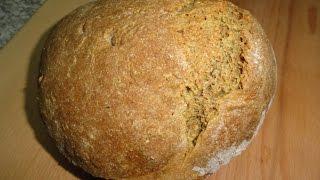Как я худею 2015.Бздрожжевой хлеб в духовке 600гр.-1100ккал..