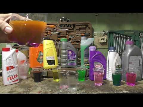 Что если смешать разные по цвету АНТИФРИЗЫ: Эксперимент!